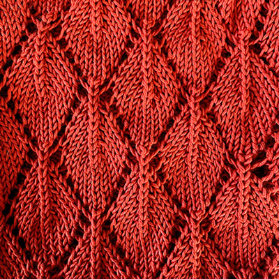 Leaf Top Pattern red