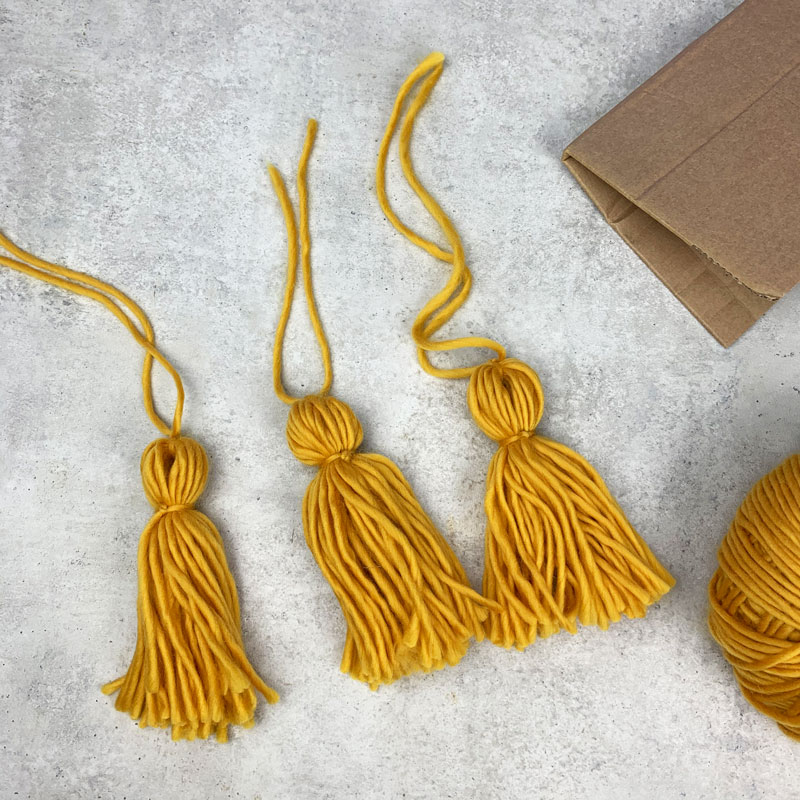 DIY wool tassels