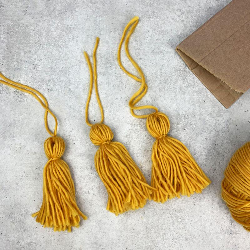 DIY wool tassels